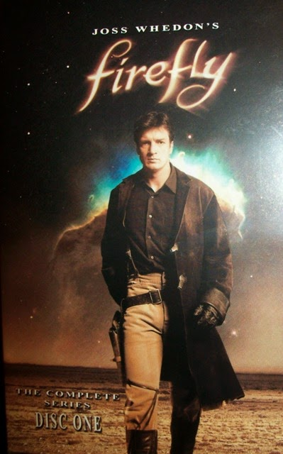 DVD cover to Joss Whedon's Firefly showing Nathan Fillion as Captain Mal Reynolds