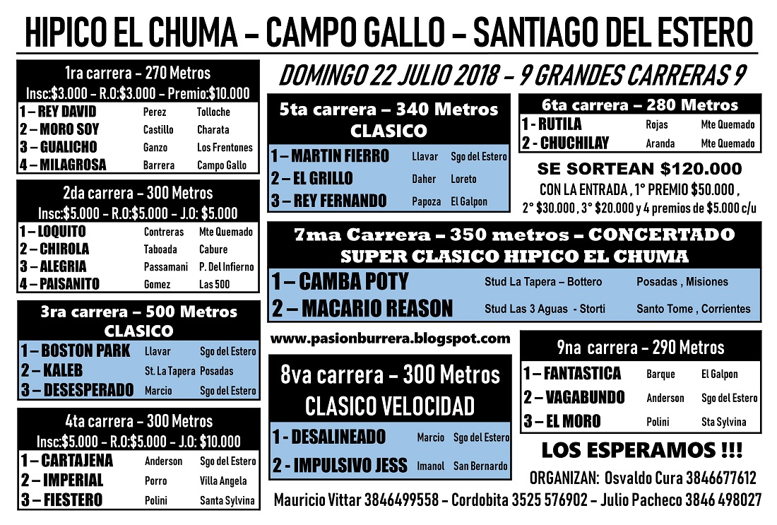CAMPO GALLO 22 - PROGRAMA