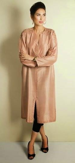 Long Silk Shirts Designs Eid 2014