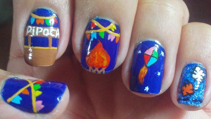 Adesivo De Jogos ~ Bela e Simples Nail Art Unhas Decoradas Festa Junina
