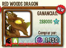 imagen del dragon bosques rojo en almacen de dragon city