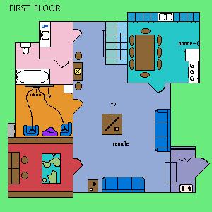 First Floor Layout Pixel Art