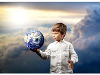 Boy with the world in his hands