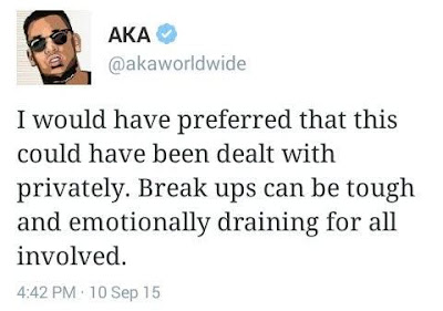 AKA denies affair with Bonang Matheba.
