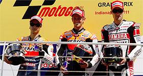 MOTOCICLISMO-Stoner sigue dominando, triplete español en Moto 2 y Terol vence en 125