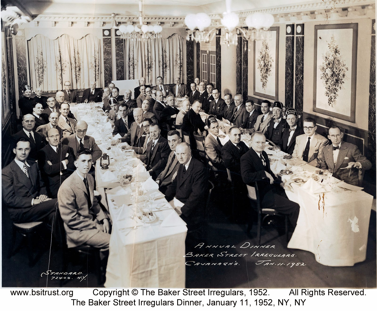 The 1952 BSI Dinner group photo