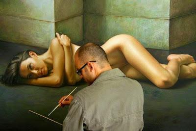 oil painting hyperrealistic artwork by Omar Ortiz