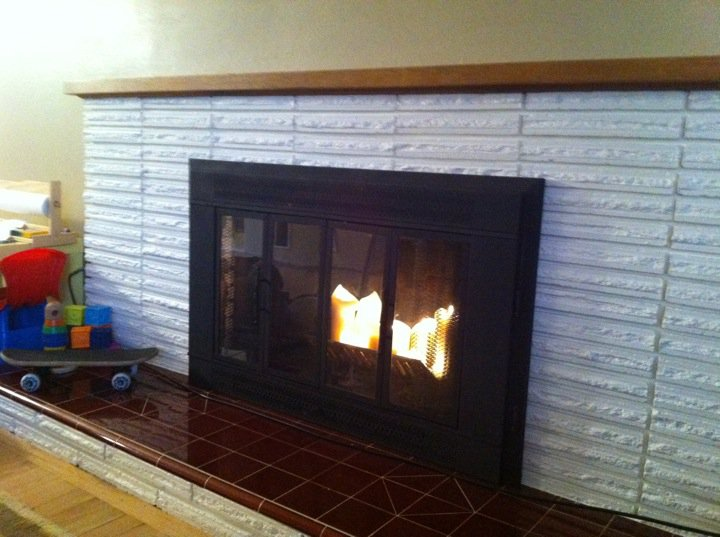 Recycled Love Letters My Kids Are Napping Lets Paint A Brick Fireplace White