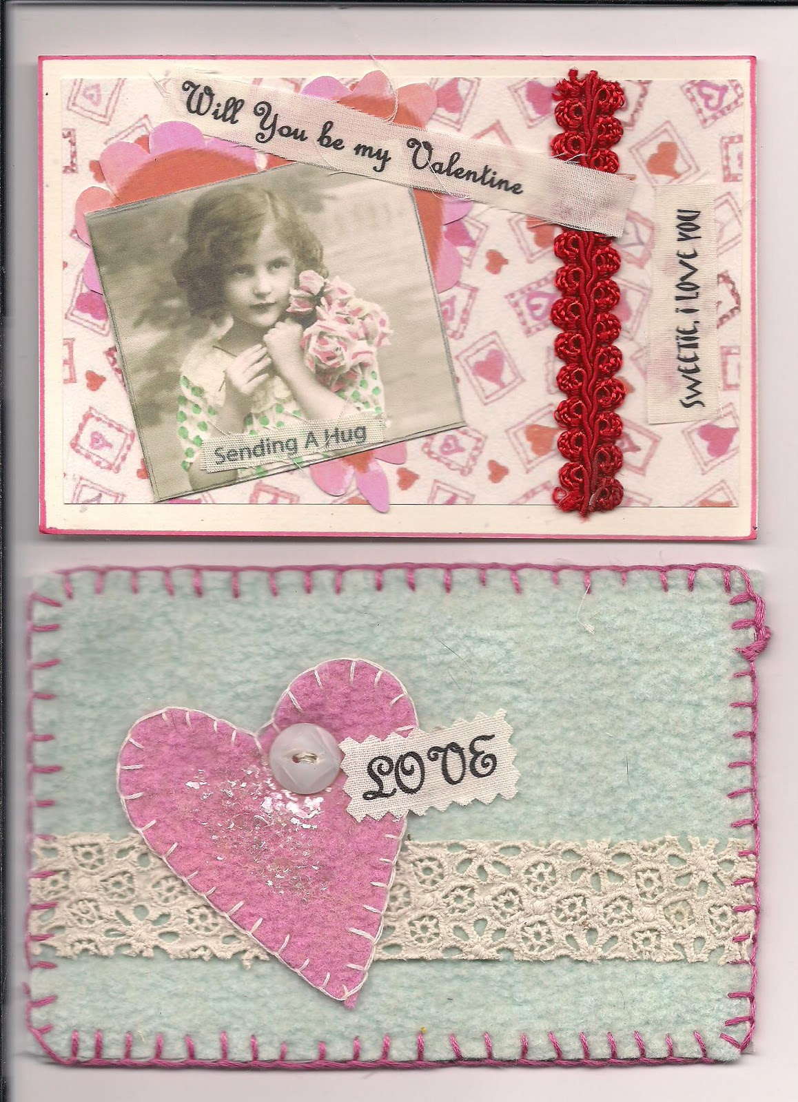 judy s postcards plus handmade fabric and collage valentine s day