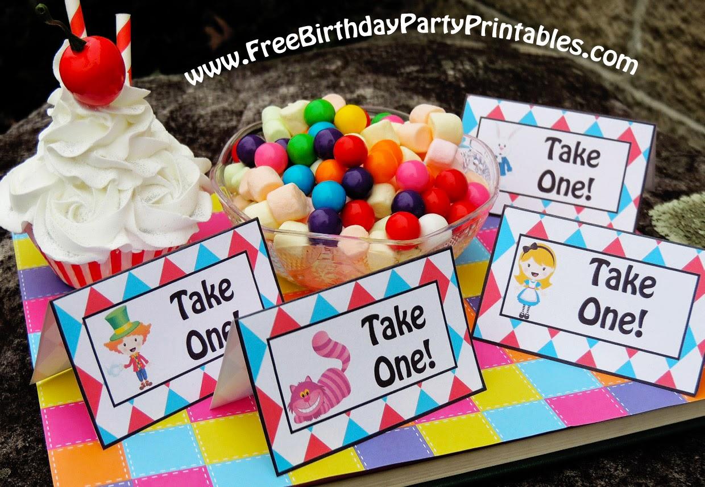 Alice In Wonderland Birthday Party Printables