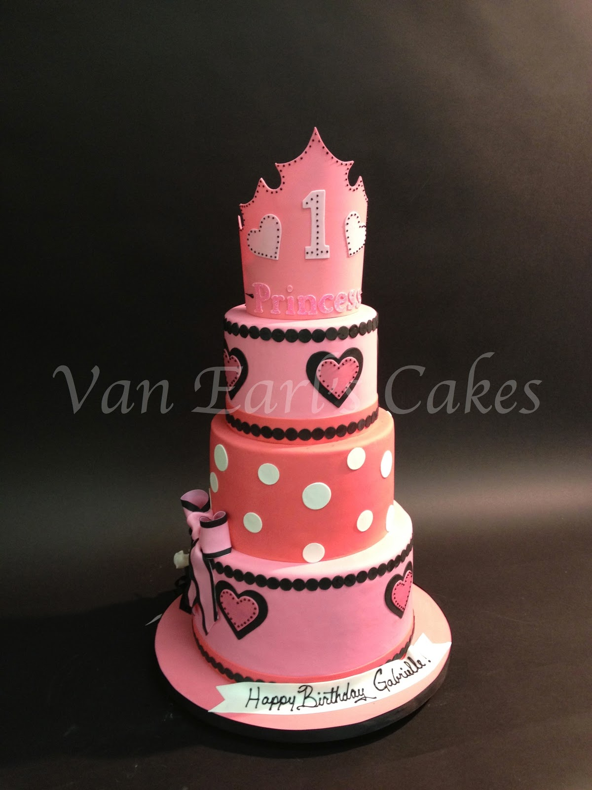 Van Earls Cakes: 1st Princess Birthday Cake