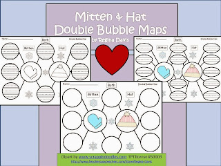 http://www.teacherspayteachers.com/Product/A-Mitten-Hat-Double-Bubble-Maps-476820