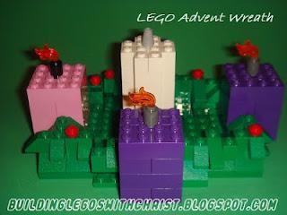 LEGO Advent Wreath, Christmas Lego Creations, Biblical Lego Creations, Christian Lego Creations