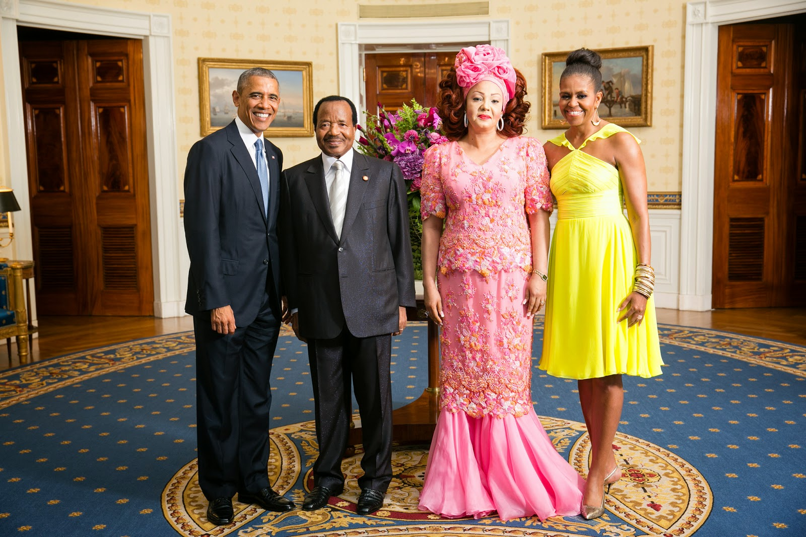 Fabulous first lady of cameroon chantal biya and her for Africa express maison des jeunes