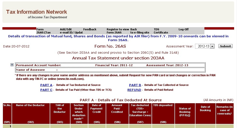 how to submit tax return online india
