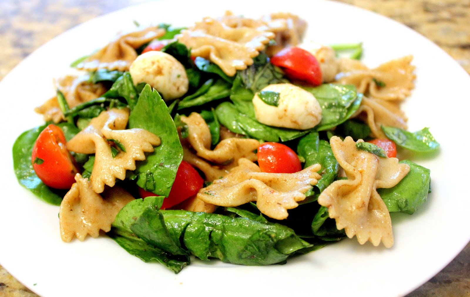 Fit And Lovin 39 It Pasta Salad With Fresh Spinach