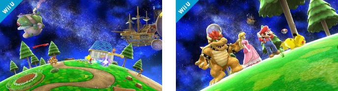 Mario Galaxy stage for Smash Bros WiiU Exclusively