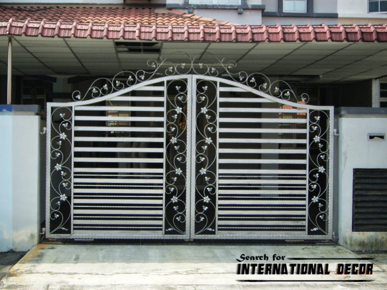 Choice of gate designs for private house and garage for Home gate architecture