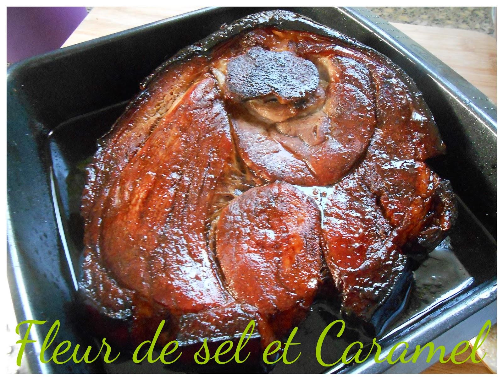 Rouelle de porc caramélisée