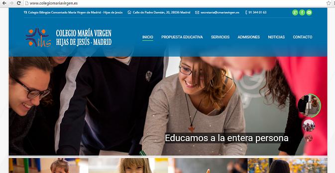 Web Colegio María Virgen