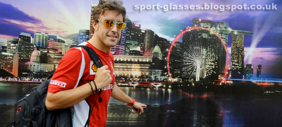 Fernando Alonso - Singapore GP 2012 publicity in Matt Clear - Fire Iridium Oakley Jupiter Squared