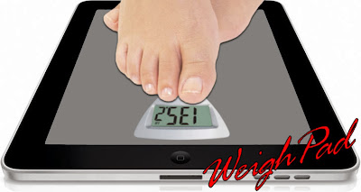 Weighing yourself using an iPad and the WeighPad app