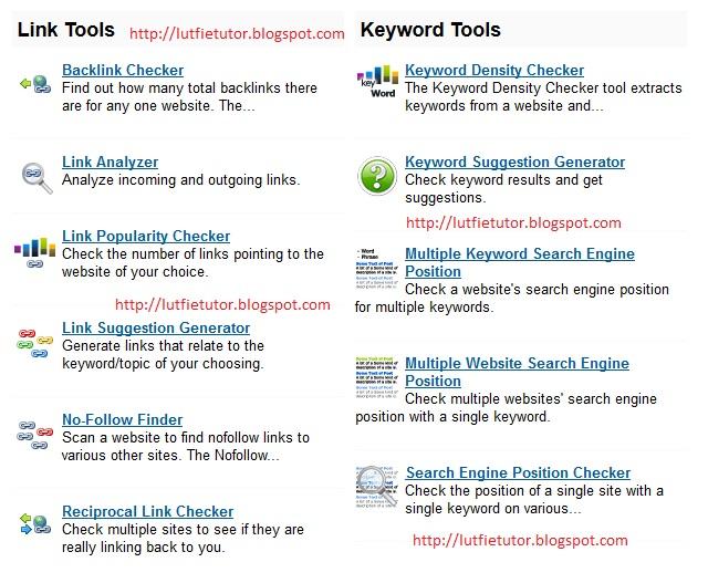 Tool Seo Untuk Website/Blog
