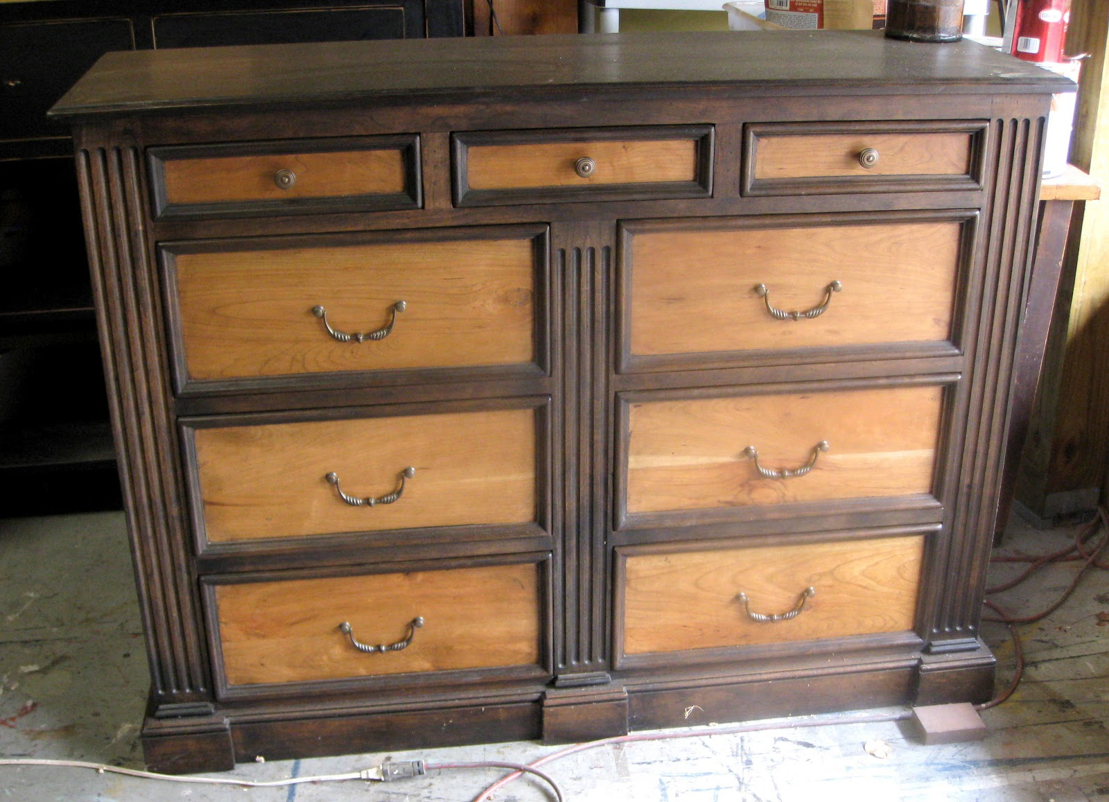 Marvelous This Cherry Dresser Features Two Different Colored Stains And Has A  Lacquered Finish.