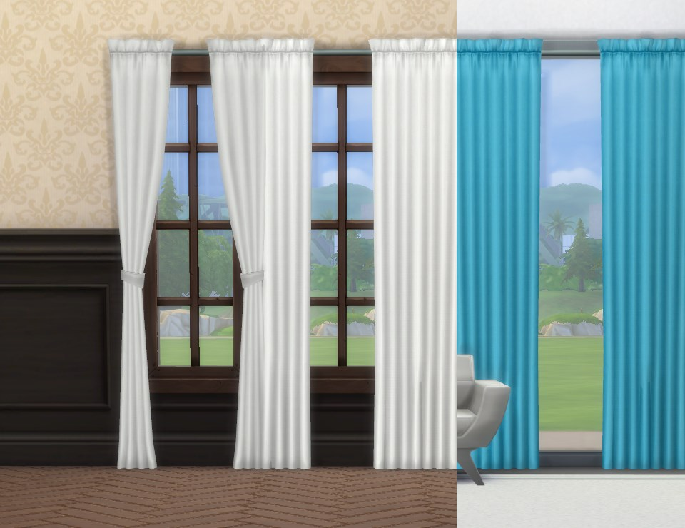 My Sims 4 Blog Simple Curtains By Plasticbox