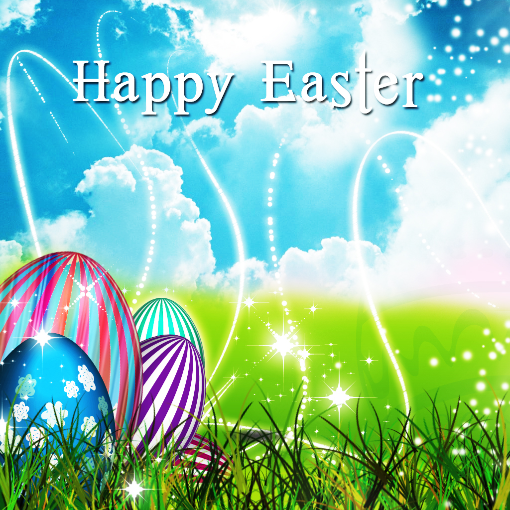 Wish You Happy Easter Pictures With Colorful Eggs