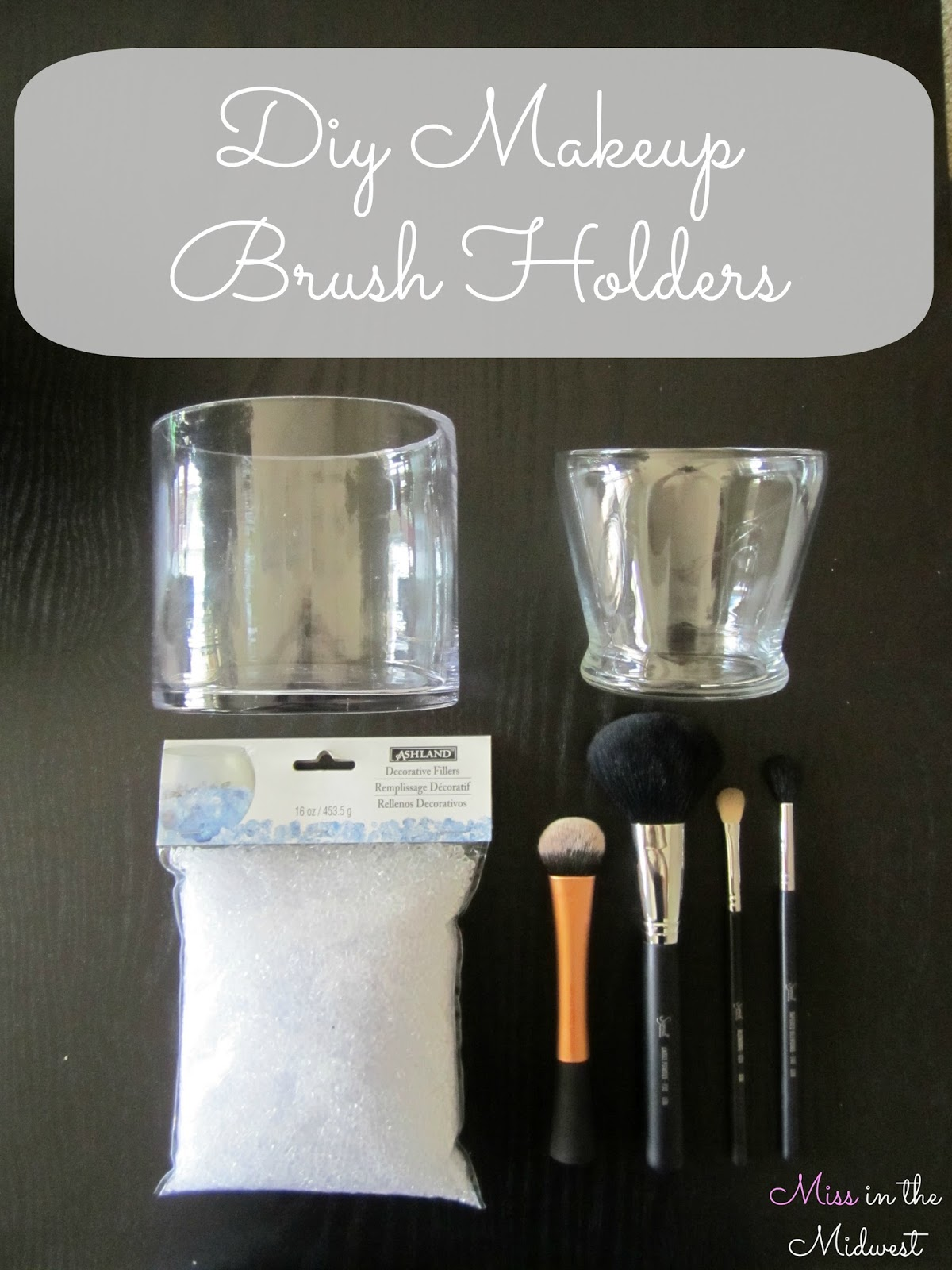 Miss in the Midwest: DIY Makeup Brush Holders