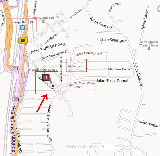 peta, maps Manjung Yong Tau Foo Terbaik Kuala Lumpur