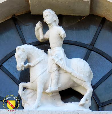 AUTIGNY-LA-TOUR (88) - L'église Saint-Pient - Statue de Saint-Martin (XVIe siècle)