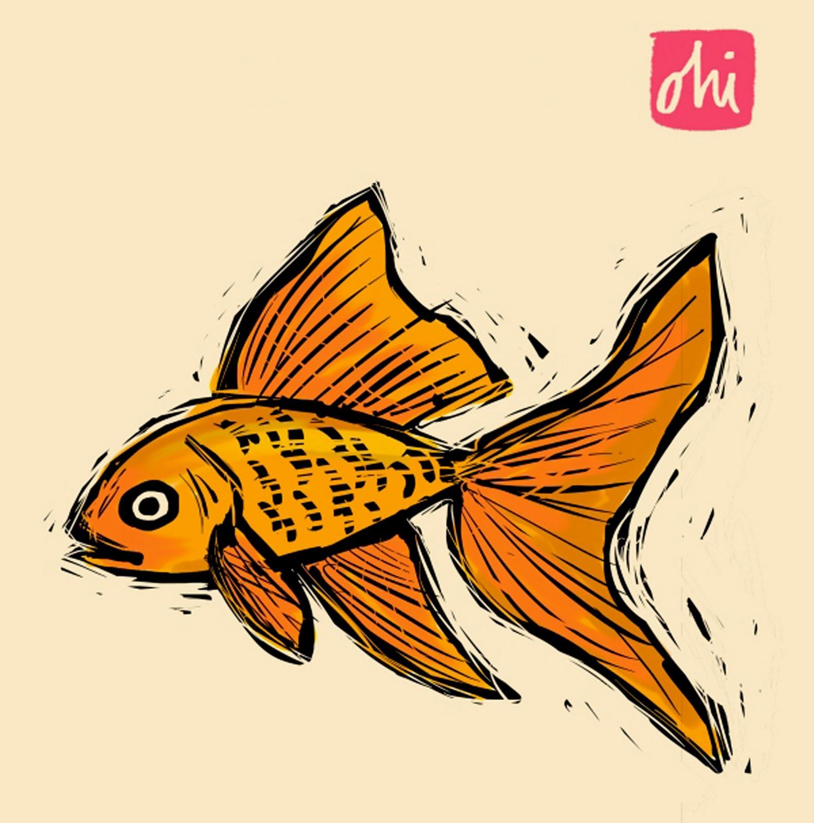 Goldfish line drawing - photo#22