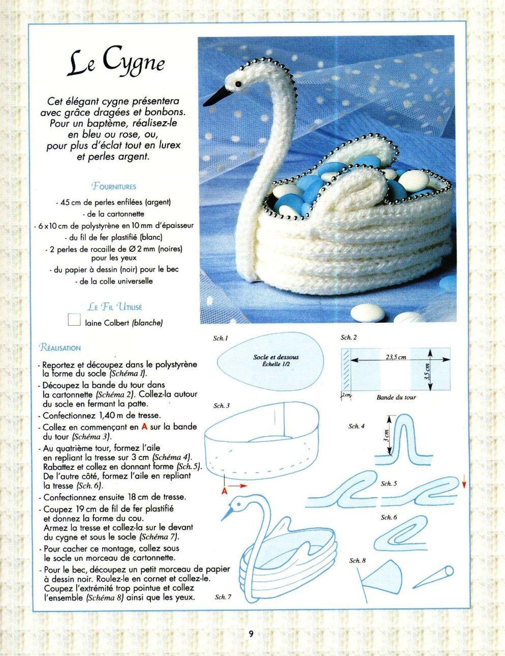 Cisne em crochet
