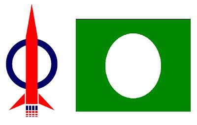 bendera DAP dan PAS