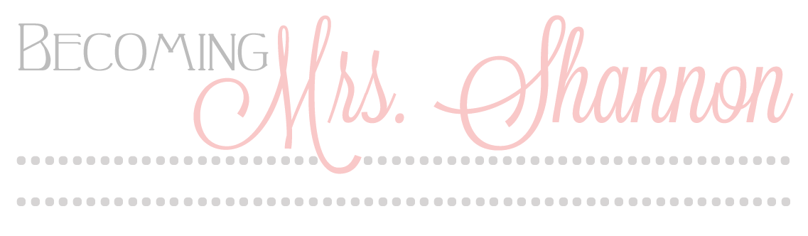 Becoming Mrs. Shannon