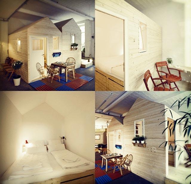 Cute cabin hotel in Berlin via handgehaakt.blogspot.com