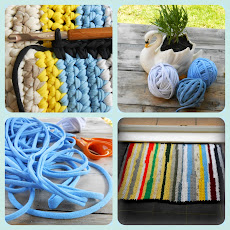 A crochet rag-rug from t-shts