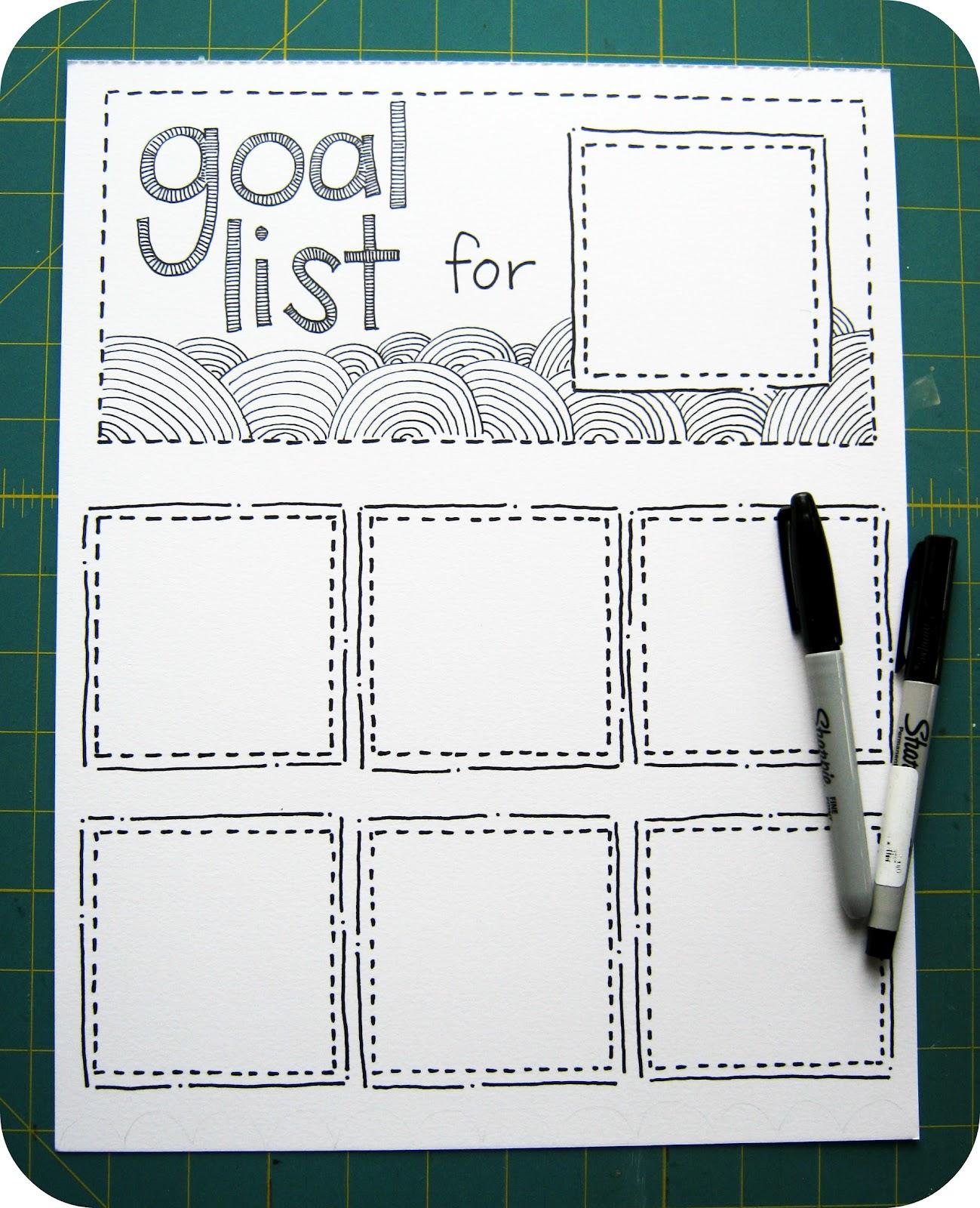 scrap n a snap designs organize your goals. Black Bedroom Furniture Sets. Home Design Ideas