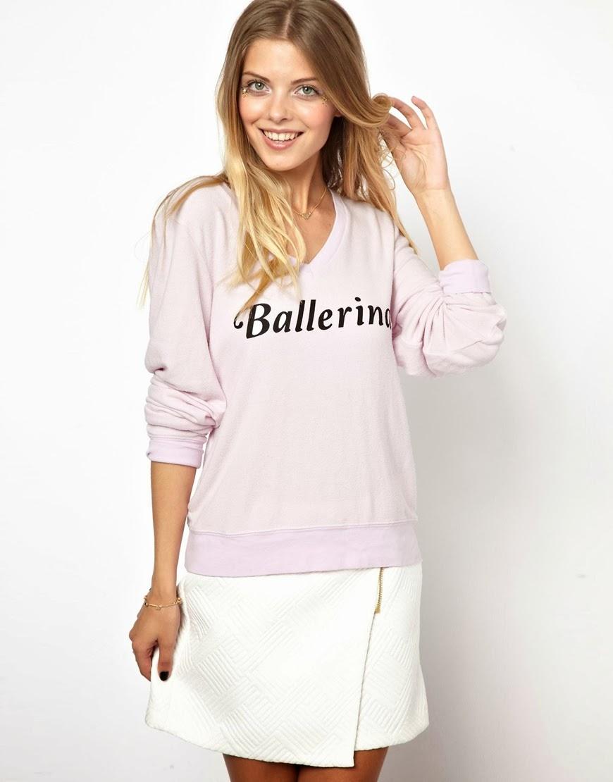 wildfox pink jumper