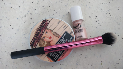 TheBalm Mary-Lou Manizer powder and Benefit High Beam