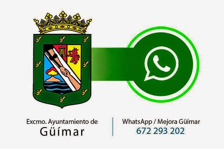Mejora con nosotros Güímar. Mándanos un whatsapp con lo que desees mejorar