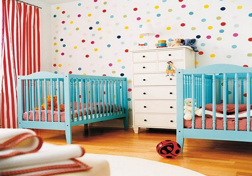 Tapis Chambre Bebe Jungle : Chambre Jumeaux Mixte  chambre – chambre jumeaux deco  Décoration