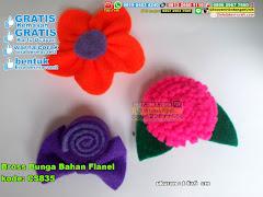 Bross Bunga Bahan Flanel