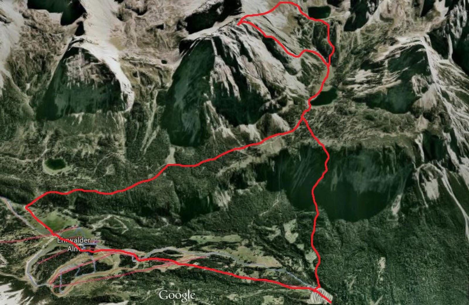 Klettersteig Karte : Rauf gehts tajakante klettersteig d e