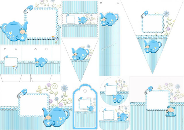 Cute Tea Party Free Printable Kit.