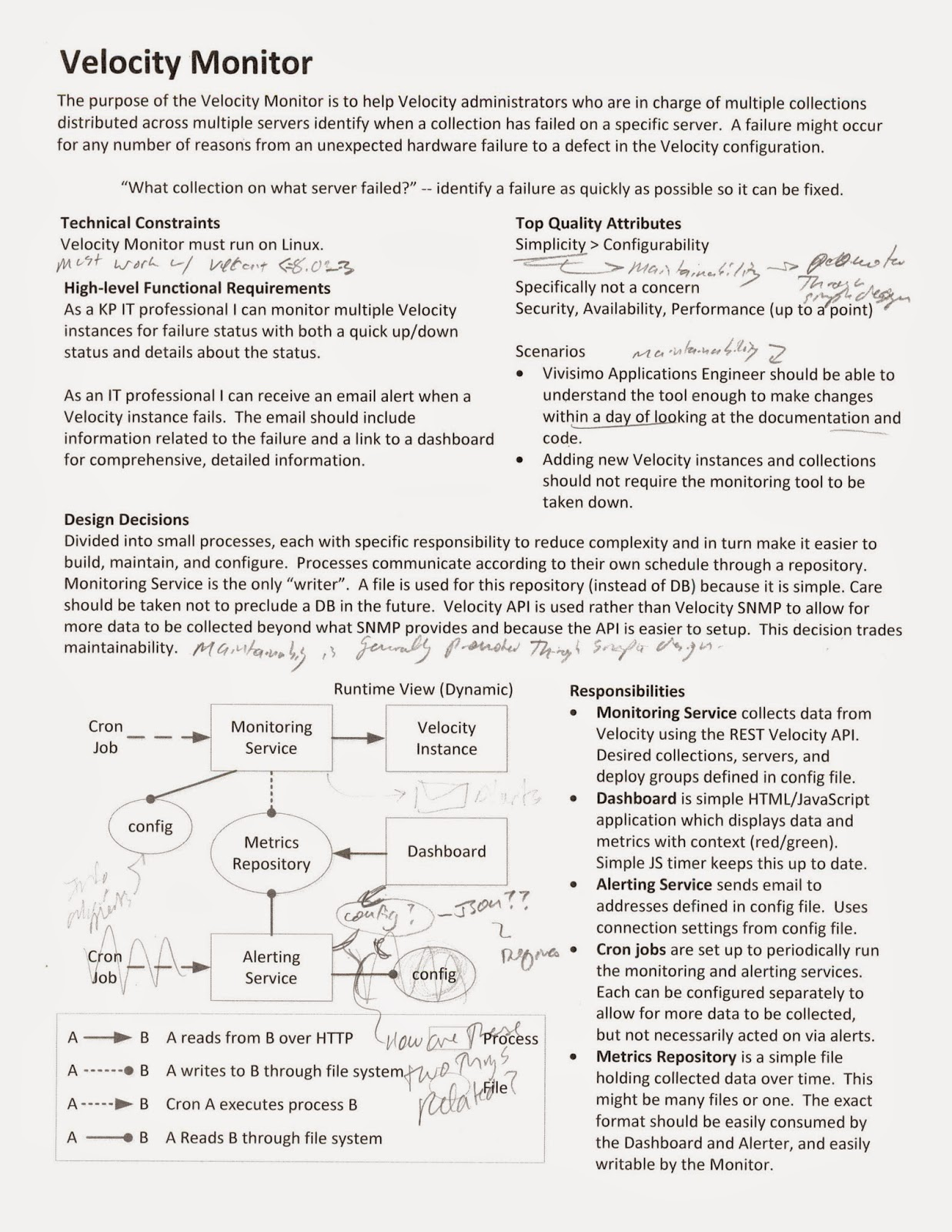 reflections on software engineering architecture haiku example architecture haiku scanned from a real project notice the hand written annotations you can say a lot in only one page