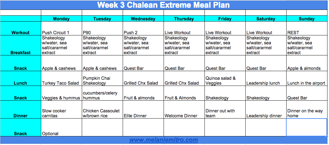 Meal Plan, Chalean Extreme, Progress, Transformation, Update, Beachbody, Support, Coach, Accountability, Tips