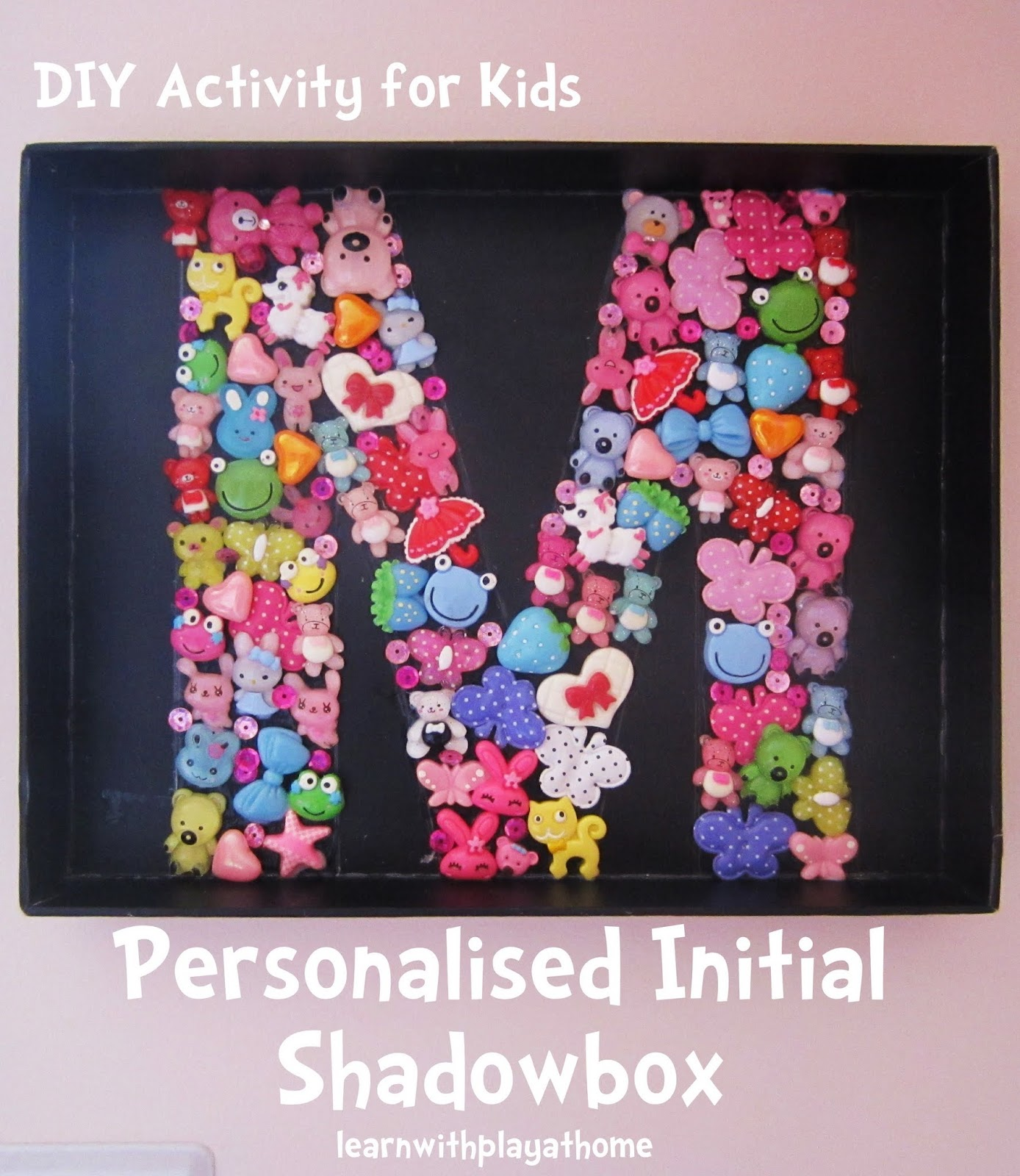 Learn With Play At Home DIY Personalised Initial Shadowbox